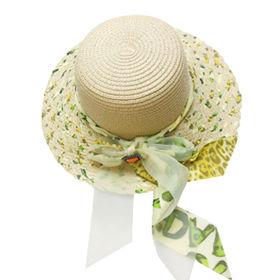 Stylish Ladies' Beach Straw Hats with Elegant Bow