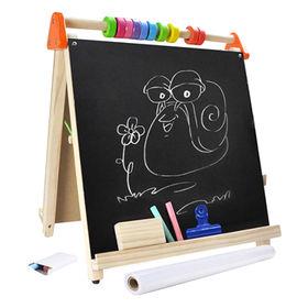 China 2015 double side wooden learn blackboard