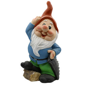 Large Polyresin Gnome garden statue Manufacturer