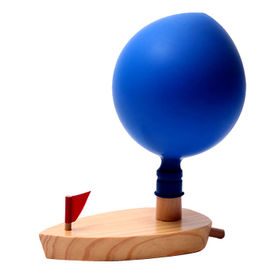 2015 new water balloon power wooden boat toy from China (mainland)