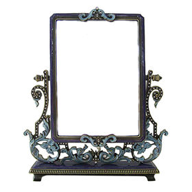 Antique Purple Blue Jewelry Tabletop Mirror from China (mainland)