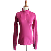 Pink ladies' stand-up collar sportswear from China (mainland)