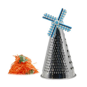 New Table Grater Wind Mill Mini Delft Blue for Cheese, Parmesan, Vegetable ,Made of steel and resin