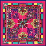Fashionable square 100% twill silk scarves, OEM orders welcome