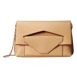 Ladies shoulder bags,magnetic flap closure,front zip and slip pocket,detachable chain shoulder strap