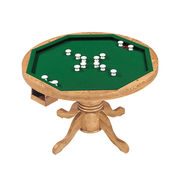 Wooden 3 in 1 bumper pool table in OAK finish Manufacturer