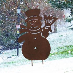 Decorative Metal Snowman silhouette Manufacturer