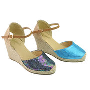 Women's wedge espadrille shoes from China (mainland)