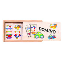 2015 new style wooden dominos game set toy