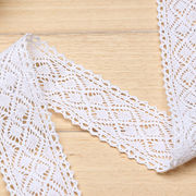 40mm double sizes cotton tape lace trims from China (mainland)