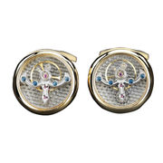 Shiny Gold Metal Alloy Cufflinks from China (mainland)