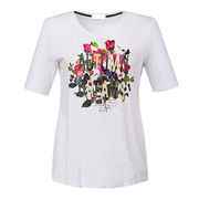 Women's 100% cotton slub jersey T-shirts from China (mainland)