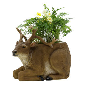 New Deer ornament Flower Pots Resin decor from China (mainland)