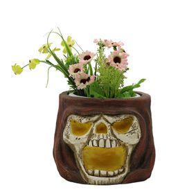 Polyresin Skull Planters from China (mainland)