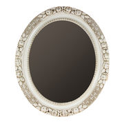 Gladys 25 x 21.25-inch Rustic White Oval Framed Wa from China (mainland)