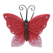China New decorative resin Butterfly flower pots hangers