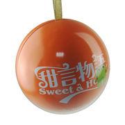 Small Christmas ball tin box Manufacturer