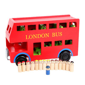 2015 Children's Wooden London Red Bus Toys from China (mainland)