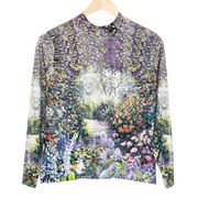 Lady's digital printed cashmere sweater