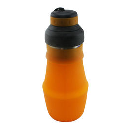 Soft squeezable silicon water bottle 600ml Manufacturer