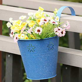New Blue Metal flower pots from China (mainland)