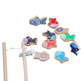 Wooden Magnetic Fishing Game Toy from China (mainland)