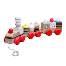 2015 Educational Wooden Pull line Block Toy Manufacturer