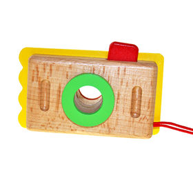 China 2015 creative wooden camera toy for children, unit measures 12.5*3.5*4.5cm