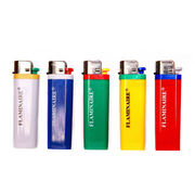 Disposable lighters with EN 13869:2002 and CPSC Marks, customized printed labels accepted