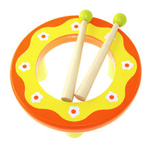 2015 fashion wooden toys hand drum from China (mainland)