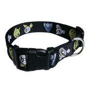 Animal printed jacquard dog collar from Hong Kong SAR