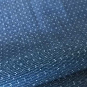 Cotton yarn-dyed shirting fabric with dobby/motif