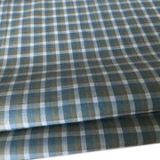 China Cotton 80S yarn-dyed poplin check shirting fabric