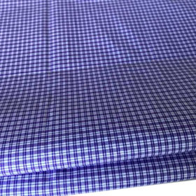 Cotton yarn-dyed check shirting fabric