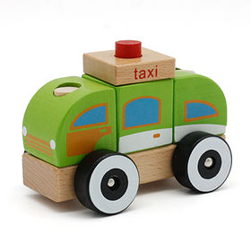 China 2015 wooden taxi toy car