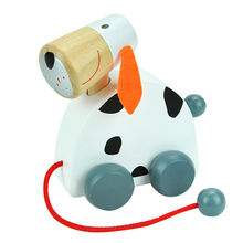 2015 New Cute Wooden Dog Pull Line Toy