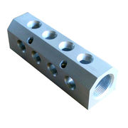 Hong Kong SAR Aluminum Precision Valve Block Terminal by CNC Center, NPT Threaded Hole, ISO-certified Factory