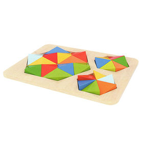 2015 funny play wooden geometrical block play