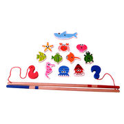 2015 promotion magnetic children's wooden fishing from China (mainland)