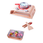 China 2015 wooden children's pretend barbecue and kitchen toy set, unit measures 30*20*9cm