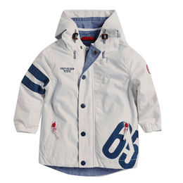 Boys' white casual jackets with hood, can be customized