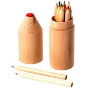 Promotional pencil set with 12 colors, for children, your logo available