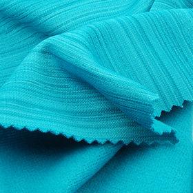 Barcord Stripe Pique Fleece Fabric