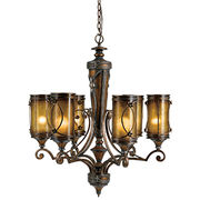 Chandelier, made of iron, poly, mica with coffee grey finish, RoHS, REACH, meet CE or UL standard
