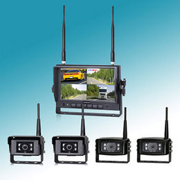 Truck Backup Camera System with Dual/Quad/Auto-scan/Single Display Mode/Automatic Pairing/IP69K