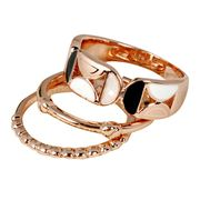 Shiny Rose-gold Ring Sets from China (mainland)