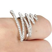 China Eco-friendly Shiny Silver Z Letter Finished Rings
