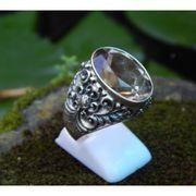Wholesale Patra motif silver ring topaz stones smocky, Patra motif silver ring topaz stones smocky Wholesalers
