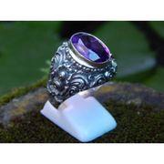 Wholesale Motif Carving Bali Silver ring Amethyst, Motif Carving Bali Silver ring Amethyst Wholesalers