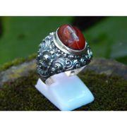 Wholesale Silver ring Motif Carving Bali Arkenstone, Silver ring Motif Carving Bali Arkenstone Wholesalers